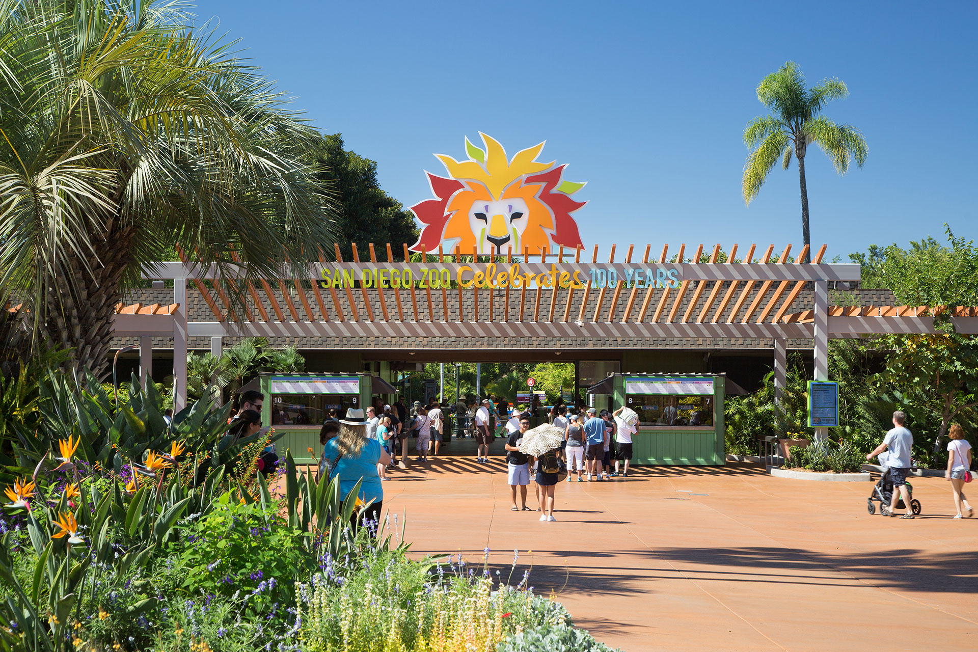 San Diego Zoo Entry Trellis / Ticket Booths / Restrooms